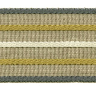 wide woven braid or interior trimming in bilberry, olive, white and natural colours