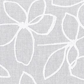 flo white a simple white-on-white abstract floral roller blind fabric print