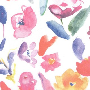 floribunda is a floral print with bright colours for window roller blinds
