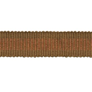 glitter trim in copper shiney metallic lurex braid, a decorative interior trimming