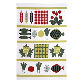 summer lunch kitchen linen tea towel by Aune Laukkanen
