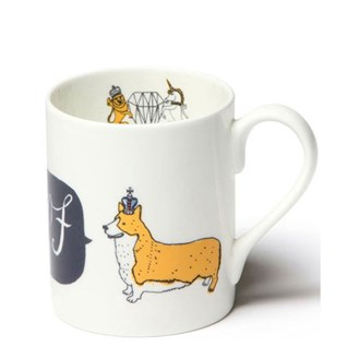 woof corgi royal souvenir of London china mug