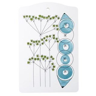 blue & green picknick design kitchen chopping board of dill and onions