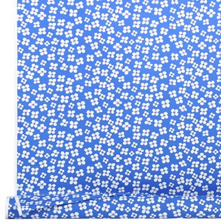 belle amie a vintage blue and white simple flower print on cotton by marianne westman
