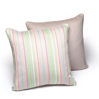 sudbury stripe luxury woven cushion by laura fletcher in silk