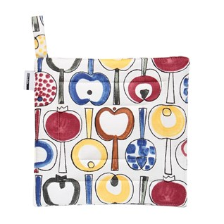 colourful pomona heatproof potholder by Marianne westman featuring apples