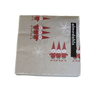nordic elves paper napkins in red and white swedish christmas