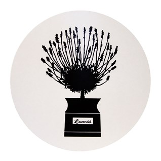 herb garden trivet - black