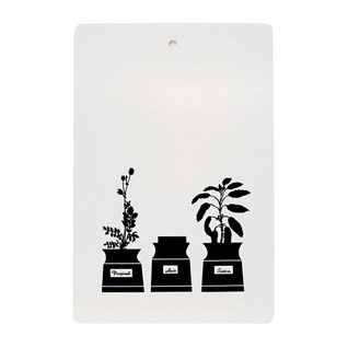 monochrome kitchen chopping board with astrid sampe 1950 persons kryddskap design in black & white