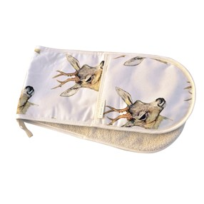 deer double oven glove by Mosney Mill.