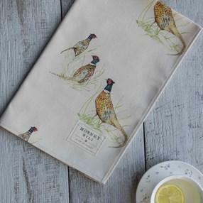 pheasant design kitchen tea towel a classic countryside print