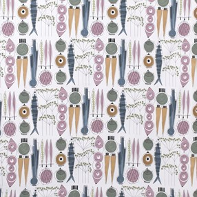 picknick fabric - blossom & blue