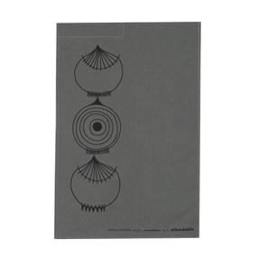 picknick elements grey and black modern tea towel