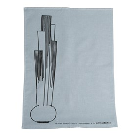 picknick elements grey light blue modern tea towel
