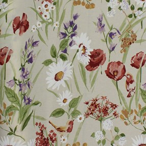 traditional country cottage garden style roller blind print
