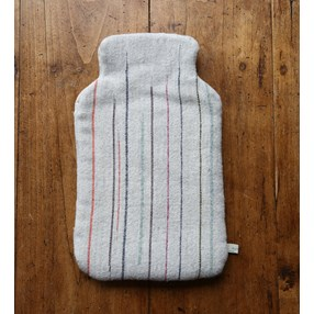 Chalkney Hot Water Bottle Cover - soft grey