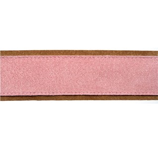 soft decorative trimming in mallow pink colour made from real suede