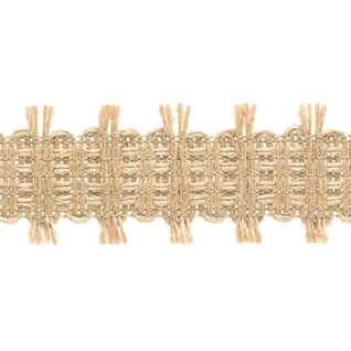 woven interior decorative trimming in natural jute