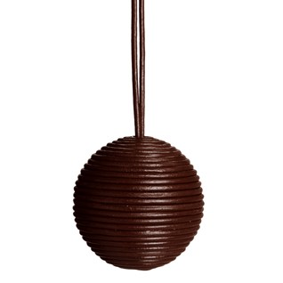 leather ball blind pull -  brown