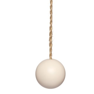 oyster pink wood ball window roller blind pull or acorn with jute cord
