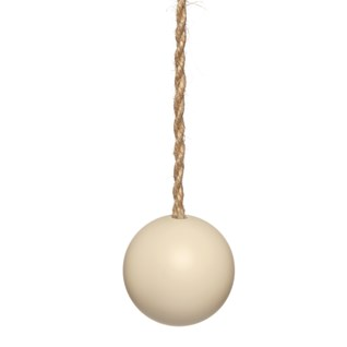 dorset cream wood ball window roller blind pull or acorn with jute cord