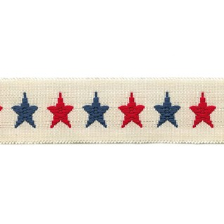 red and blue lucky star woven interior trimming braid