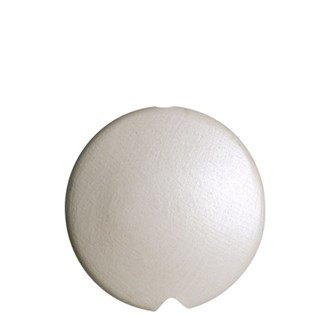 ivory shimmer coloured lunar disc-shaped painted roman or curtain blind pull