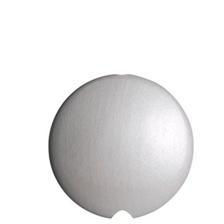 distinctive lunar disc shaped painted roman curtain blind pulls in silver shimmer