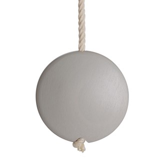 storm grey coloured lunar disc bathroom light pull or light switch toggle with cotton rope cord