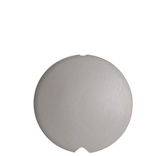 storm grey coloured lunar disc-shaped painted roman or curtain blind pull
