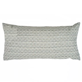 duck egg coloured woven cushion with clever slub-effect weave by Laura Fletcher