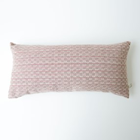 Midhurst Check Cushion dusty pink