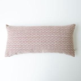 Midhurst Check Cushion dusty pink