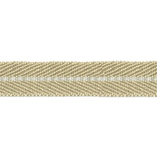 smart herringbone jute trim with white centre stripe, interior braid