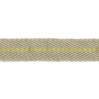 smart herringbone jute trim with yellow centre stripe, interior braid