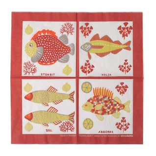 catch of the day paper napkins