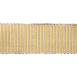 pastille stripe in lemon yellow woven trimming is a delicate striped pastel braiding