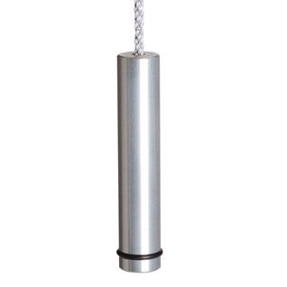 anodised aluminium slim pencil cylinder bathroom light pull with o ring or switch toggle