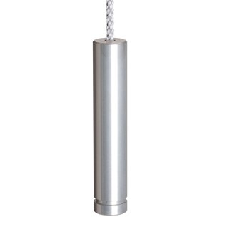 anodised aluminium slim pencil cylinder bathroom light pull or switch toggle