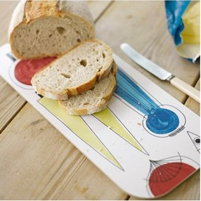 colourful picknick design kitchen loaf bread board a vintage swedish print by Marianne Westman