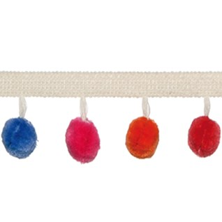 tutti multicoloured pom pom braid a decorative modern contemporary interior trimming