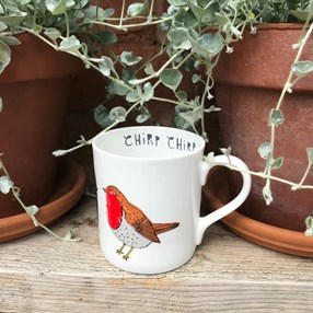 red robin chirp mug