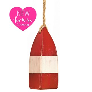 red and white mini buoy nautical window blind pulls for that coastal look