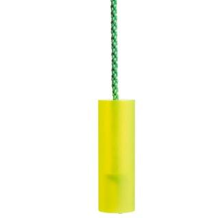 sandblasted acrylic blind pull - fluro green