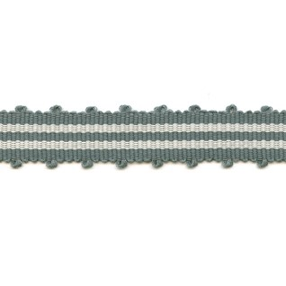 tenby striped trim - rock pool grey
