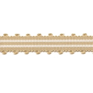 sandcastle colourway in tenby braid, a simple modern stripped trimming for interiors