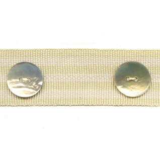 whitstable stripe button trim - sand dune