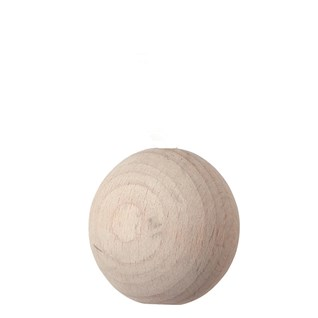 wooden ball roman blind pull -  whitewash