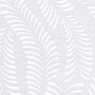 woodfern is a subtle textured white-on-white design for spring roller window blinds
