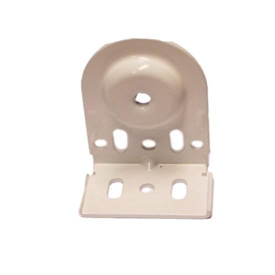 white pin end bracket